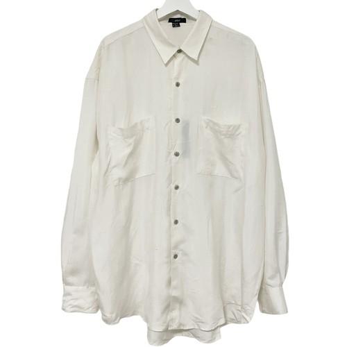 Dead Stock 90's phiz Silk Shirt 【 White 】