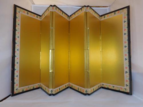 お内裏様の屏風一双 mini folding screen(pair No2)