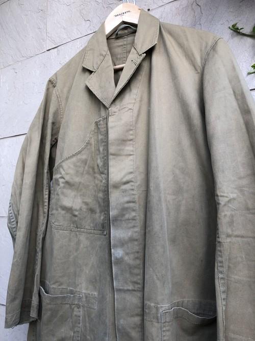 1960s British GPO khaki cotton work coat