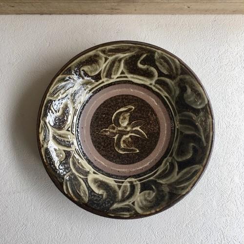やちむん 陶器工房虫の音 鳥7寸