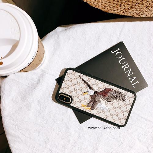 オリジナル iphone xケース タカ カップル オシャレ iphone8 plusケース キャラクター カッコイイ 鷹柄 アップリケ アイフォン 8カバー 放熱加工 男女