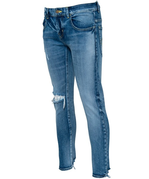 VINTAGE CRUSH CUT SKINNY DENIM[REP024]