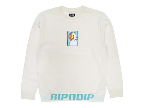 RIPNDIP|Open Mind Crewneck Sweater (Natural)