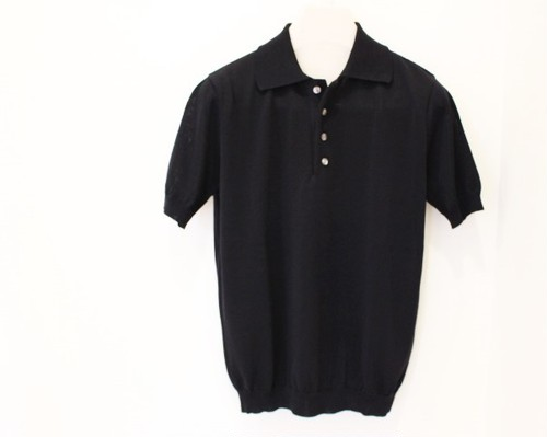 Blu Bre Knit Polo Shirt Black