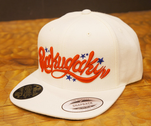 RAKUGAKI Main logo Snap Back Cap White x Red/Blue