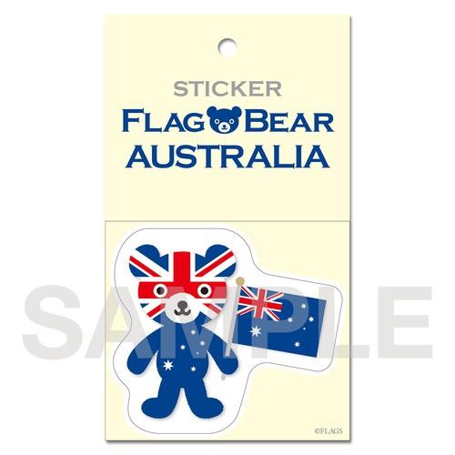 FLAG BEAR STICKER <AUSTRALIA> オーストラリア (大(L))