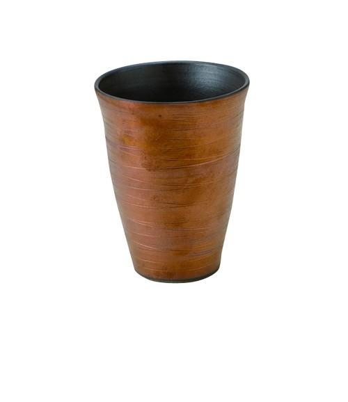 胴巻炭華 フリーカップ 内黒外銅