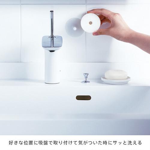 マーナ 洗面スポンジ POCO吸盤付き