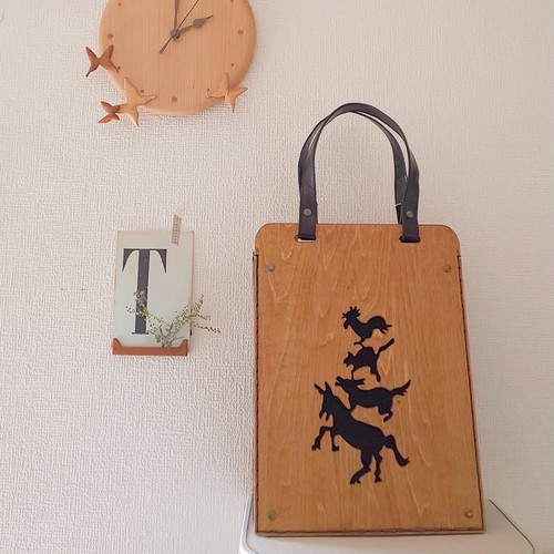 POPOさんの作る木製ブレーメンバッグ