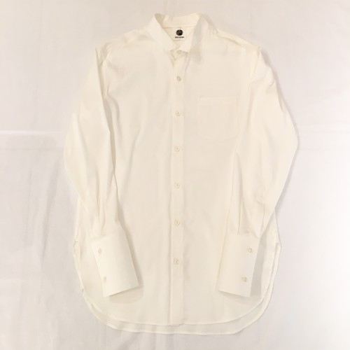 『GEN IZAWA』ロングドレスシャツ (ホワイト)