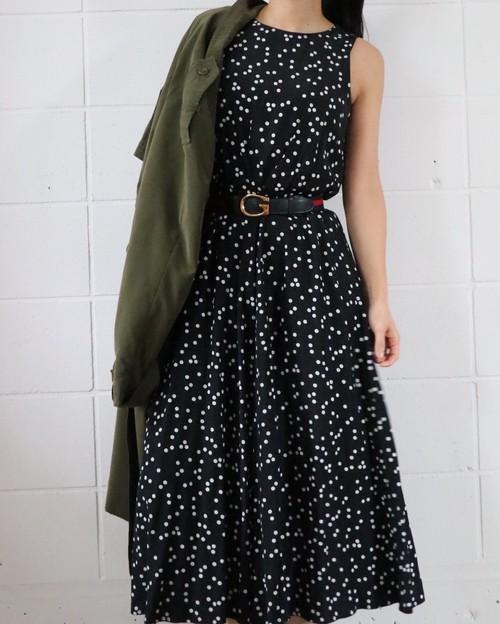 monotone dot dress