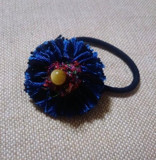 cache.& pegasusコラボ 糸のお花とゴールデンタイガーアイのゴム