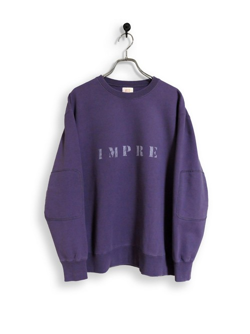 Original Sweatshirt / stencil / purple