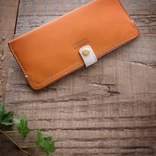 キャッシュレス時代の為のスリムな長財布【yellow】