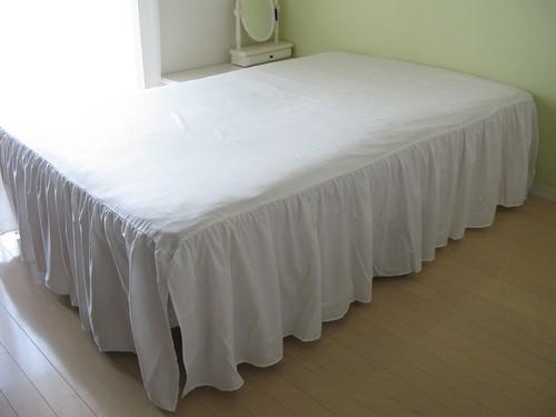 drawers ベッドスカート SD オフホワイト/グレー【新仕様】