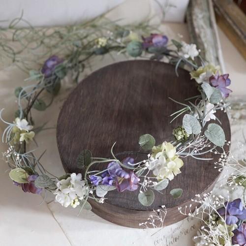 チランジアベースのナチュラル花冠
