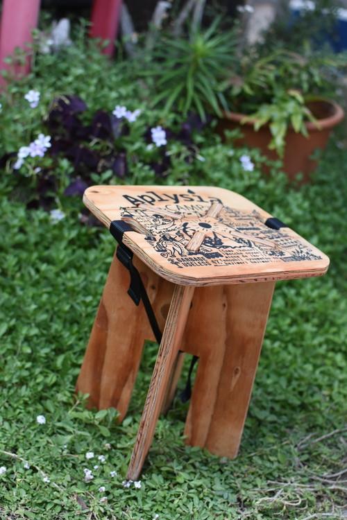 【AplysiaCAMP】折りたたみチェア plywood