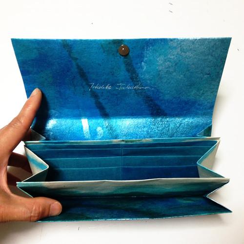 黒谷和紙の三つ折り財布(海洋)