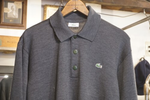 LACOSTE knit L/S polo Shirt