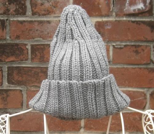 TheDelight RIB KNIT CAP LIGHT GREY