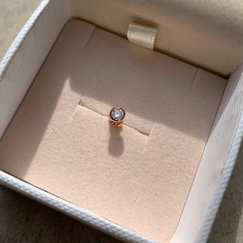 Skin Jewelry Diamond Earring 18K Pink gold