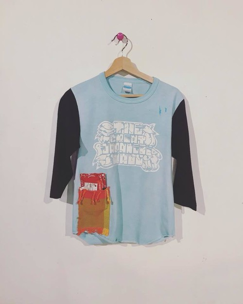 After dye7分Tee THE GREAT JAPANESE WALL/復興リメイク/Col.TEAL(青緑)/Size S