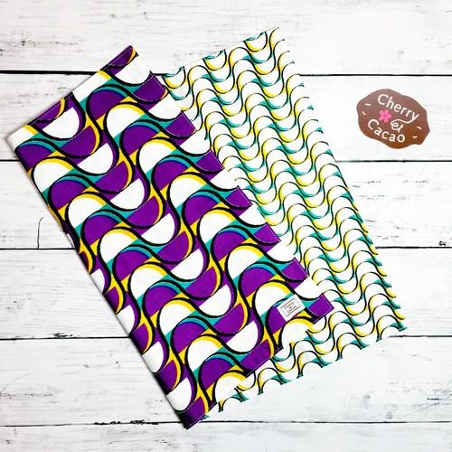 ランチョンマット リバーシブル アフリカンテキスタイル(日本縫製) ウエーブ3|アフリカ エスニック ガーナ布