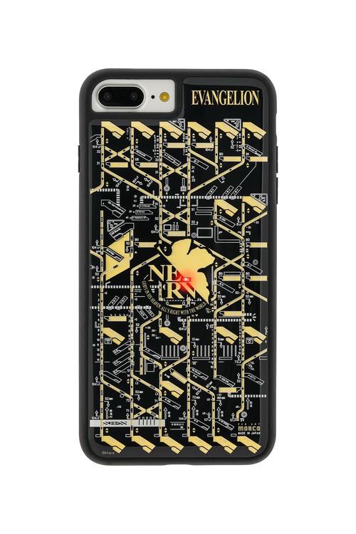 FLASH NERV 基板アート iPhone7/8Plusケース 黒【東京回路線図A5クリアファイルをプレゼント】