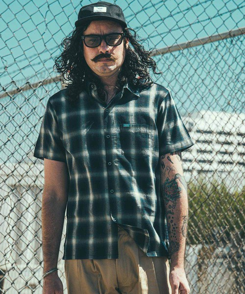 CRIMIE / CR01-02L1-SS10 / CHECK SHORT SLEEVE SHIRT