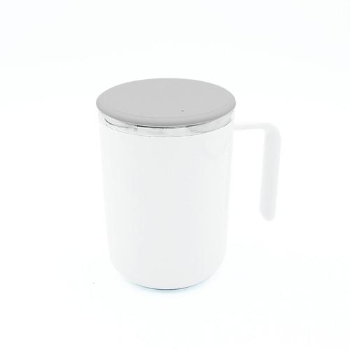 自動マドラー 一体型マグカップ ホワイト