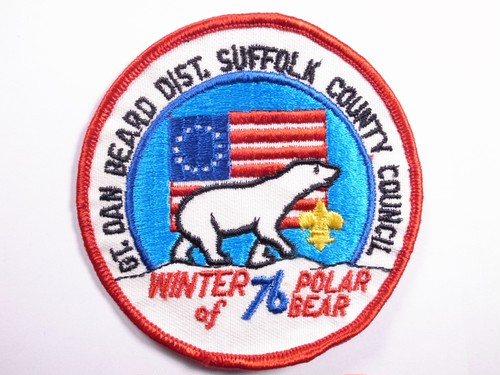 "OLD PATCH""POLAR BEAR WINTER of 76"""