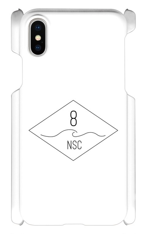 NSC(Number8 SURF CLUB)ロゴマーク iPhoneケース for iPhone10