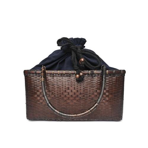 IUHA 熟練の技が生み出す 軽量 竹 竹籠バッグ 編みバッグ かごバッグ   iuhajczm1710010