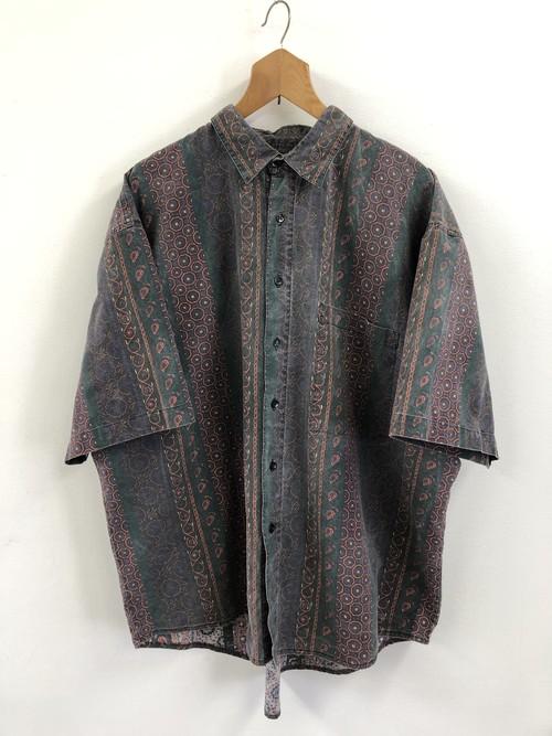 Paisley Patterned Stripe Shirt