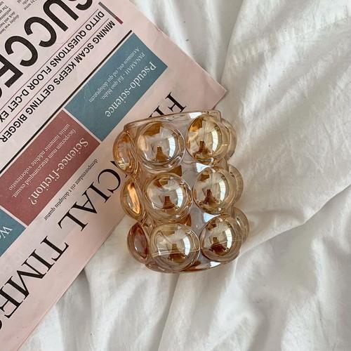big ball glass holder 2color / アンティーク調 ビッグ ボール ガラス ホルダー ブラシ ペン立て キャンドル 韓国 北欧 雑貨
