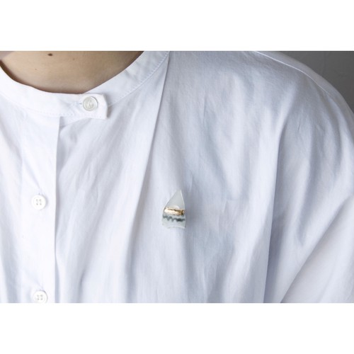Atsuko Kobayashi【 umi-umi ブローチ〔わ〕 】シーグラス / 限定 / limited / antique / vintage / brooch / handmade / original / japan