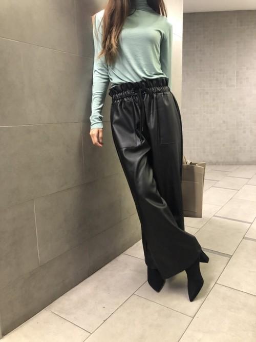ボテガレザーパンツ レザー レザーパンツ 韓国ファッション