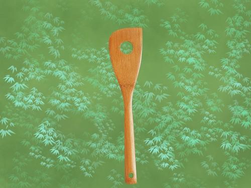 竹製 「スス竹 穴明きターナー(上仕上)29cm」日本製 ポストIN発送対応商品