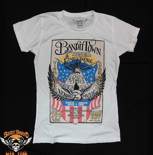 Bandit Brand 1st Annual Family Picnic Womens Tee, #WT1pic