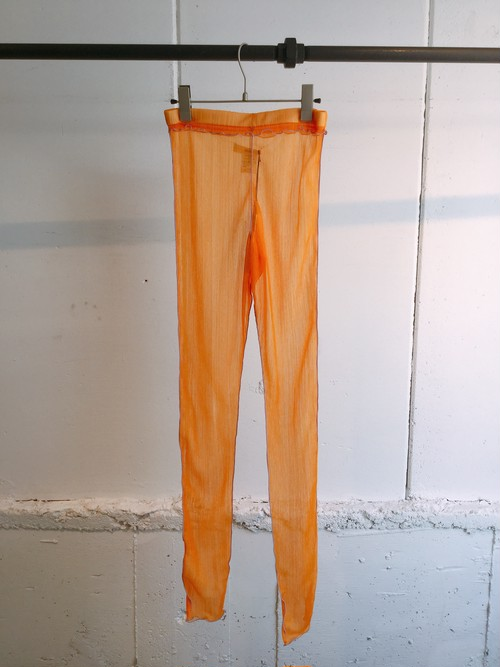 GVGV SHEER JERSEY LEGGINGS (ORANGE)