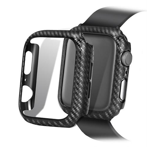 カーボンファイバー ブラック アップルウォッチ バンパー ケース ★Apple Watch Bumper Case 38mm/42mm/40mm/44mm ★ [NW652]
