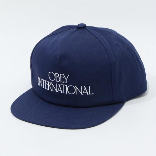 【OBEY】 PLAYERS CLUB SNAPBACK (NAVY)