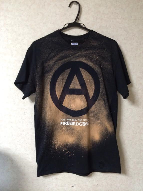 FIREBIRDGASS BLEACH T SHIRTS【ANARCHY FOREVER】