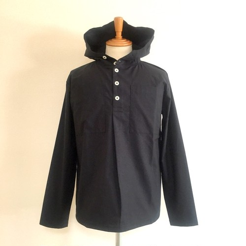 Cotton Cloth Anorak Parker Shirt Black