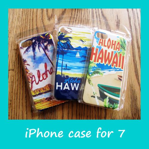 ハワイアン スマホケース for iPhone7 (ハワイ&アロハ)