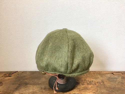wool beret:lime green