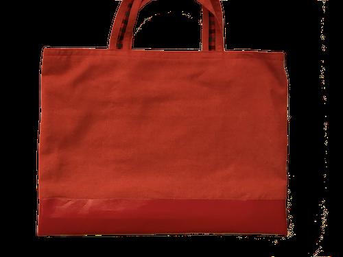 赤色デニムシンプルバッグ(サイズ変更可能)