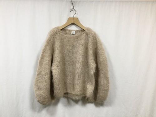 "HAKUJI "" Voluinous alpaca knit PO "" Beige"