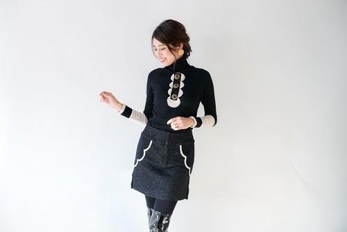 A-00811 ウールサイドプリーツスカート 50%OFF