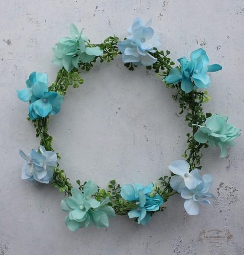 【キッズ花冠】アジサイの花冠バースデーフォトにおススメ